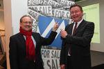 Präsident der ÖMG und UniCredit Bank Austria Peter Drobil und DMVÖ Präsident und Vortragender Anton Jenzer