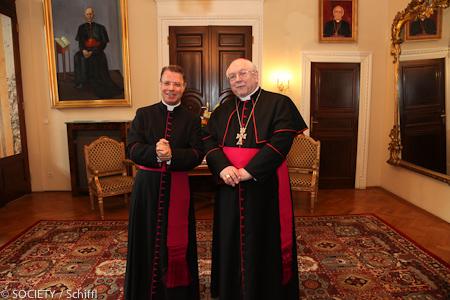 Msgr. Dr. Christoph Kühn und Nuntius Peter Stephan Zurbriggen